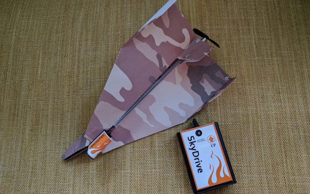 Day 90: Powered paper aeroplanes